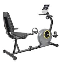 Bicicleta fitness cu spatar-orizontala de recuperare TECHFIT R300, Volanta 6 kg, Greutate suportata 100 kg, Magnetica, 8 trepte de intensitate