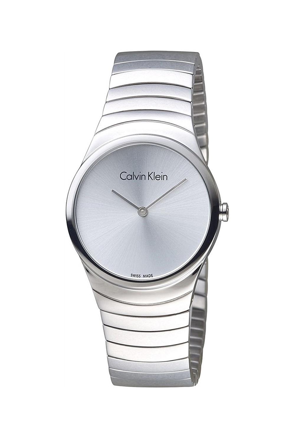Fotografie Calvin Klein, Ceas rotund cu bratara metalica, Argintiu