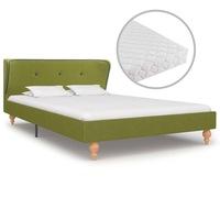 Ágy matraccal, vidaXL, szövet, zöld, 120 x 200 cm