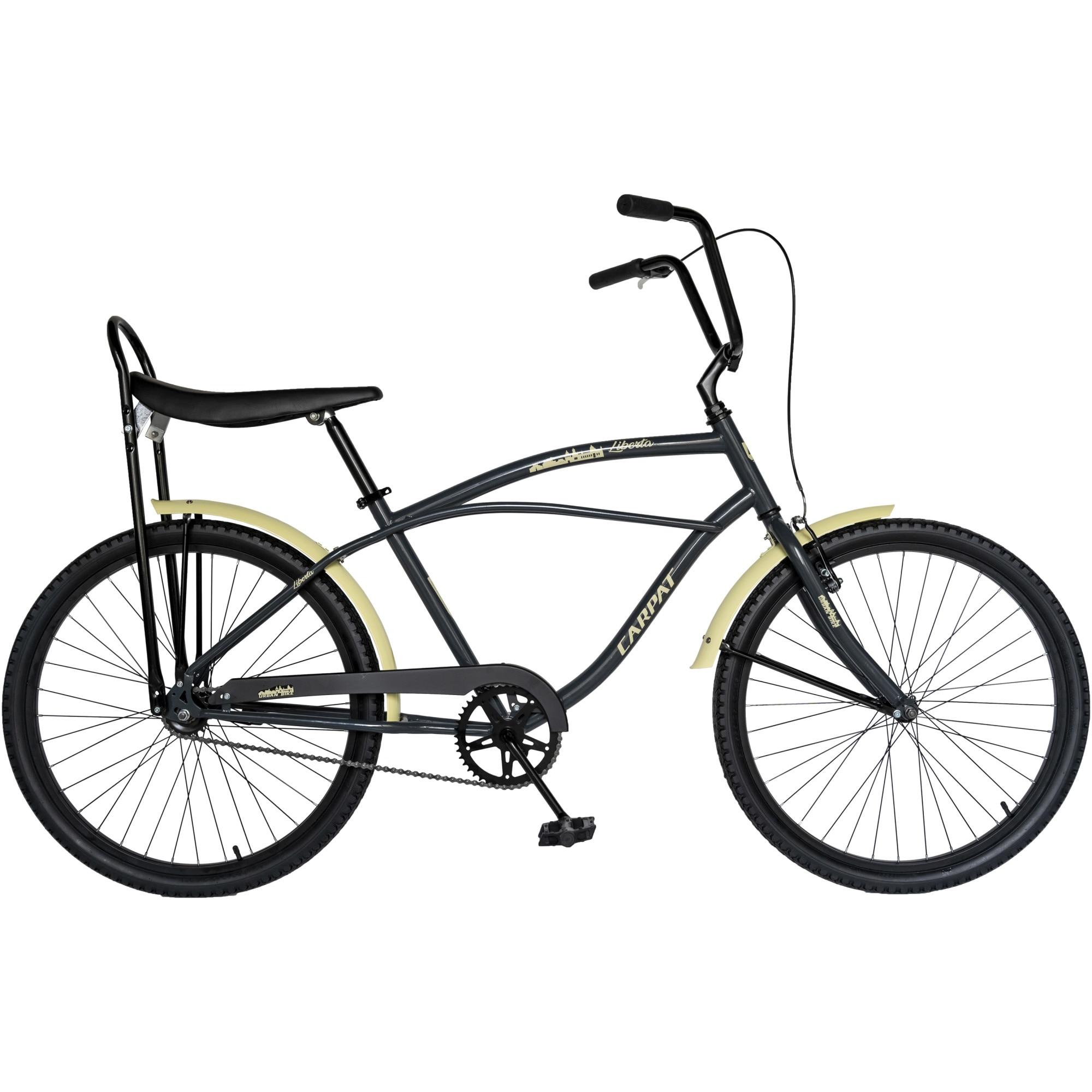 """Fotografie Bicicleta Carpat 26"""" City Liberta C2693A, Crem/Gri"""