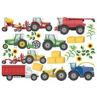 Traktorok Dekorációs falmatrica, 1 lap 60cm x 90cm