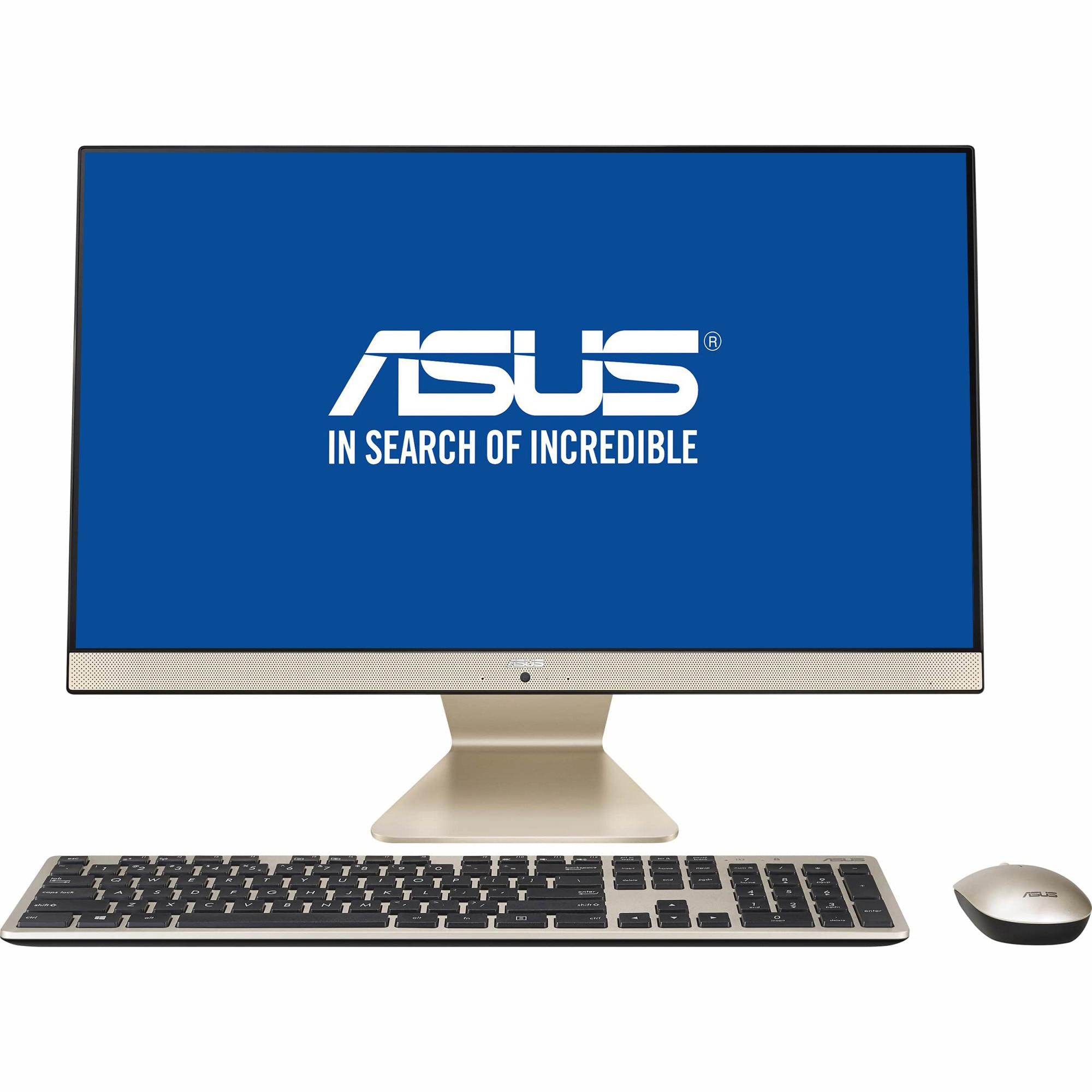 "Fotografie Sistem All-in-One ASUS V241FFK cu procesor Intel® Core™ i7-8565U pana la 4.60 GHz, Whiskey Lake, 23.8"", Full HD, IPS, 8GB DDR4, 512GB SSD, NVIDIA® GeForce® MX130 2GB, Endless OS, Black, Mouse + Tastatura"