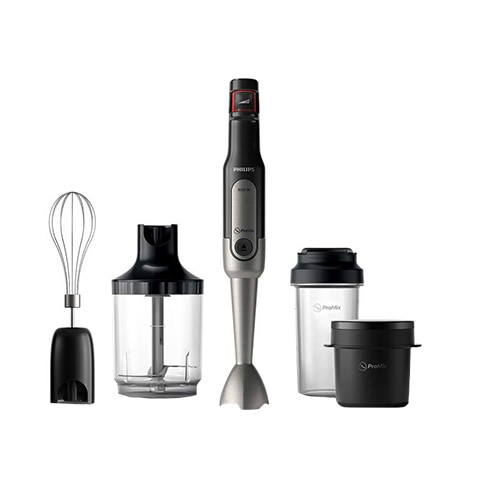 Fotografie Mixer vertical Philips Viva Collection ProMix HR2655/90, 800 W, Speed Touch + Functie Turbo, tocator XL 1 l, tel, cana de supa on-thego (300 ml), recipient on-the-go (500 ml), Negru