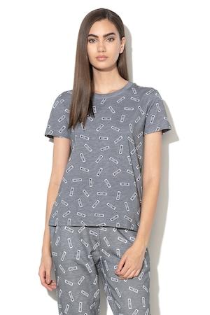 Moschino, Домашна тениска с лого, Тъмносив, XL