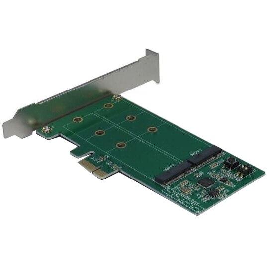 Fotografie Adaptor Inter-Tech PCI-express Argus KCSSD4 PCIe x1 catre 2x M.2 PCIe SSD