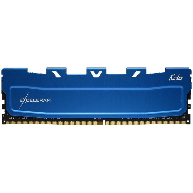 Fotografie Memorie Exceleram 8GB, DDR4, 2400MHz, CL17, 1.20V, albastru