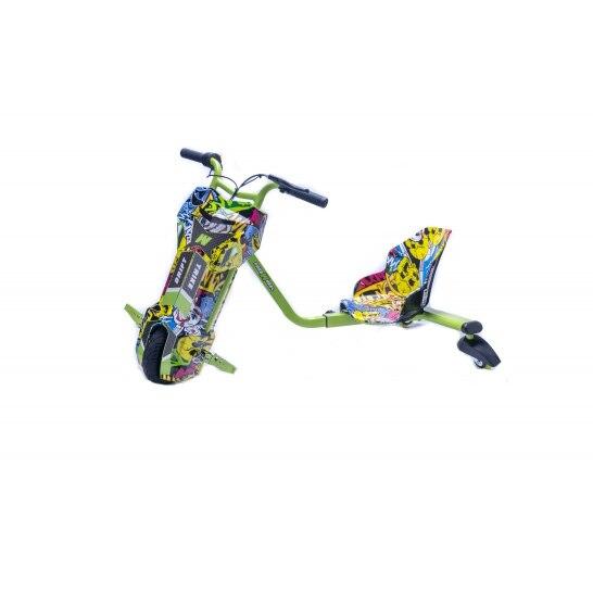 Fotografie Tricicleta electrica FREEWHEEL Drift Trike V2 Graffiti Galben