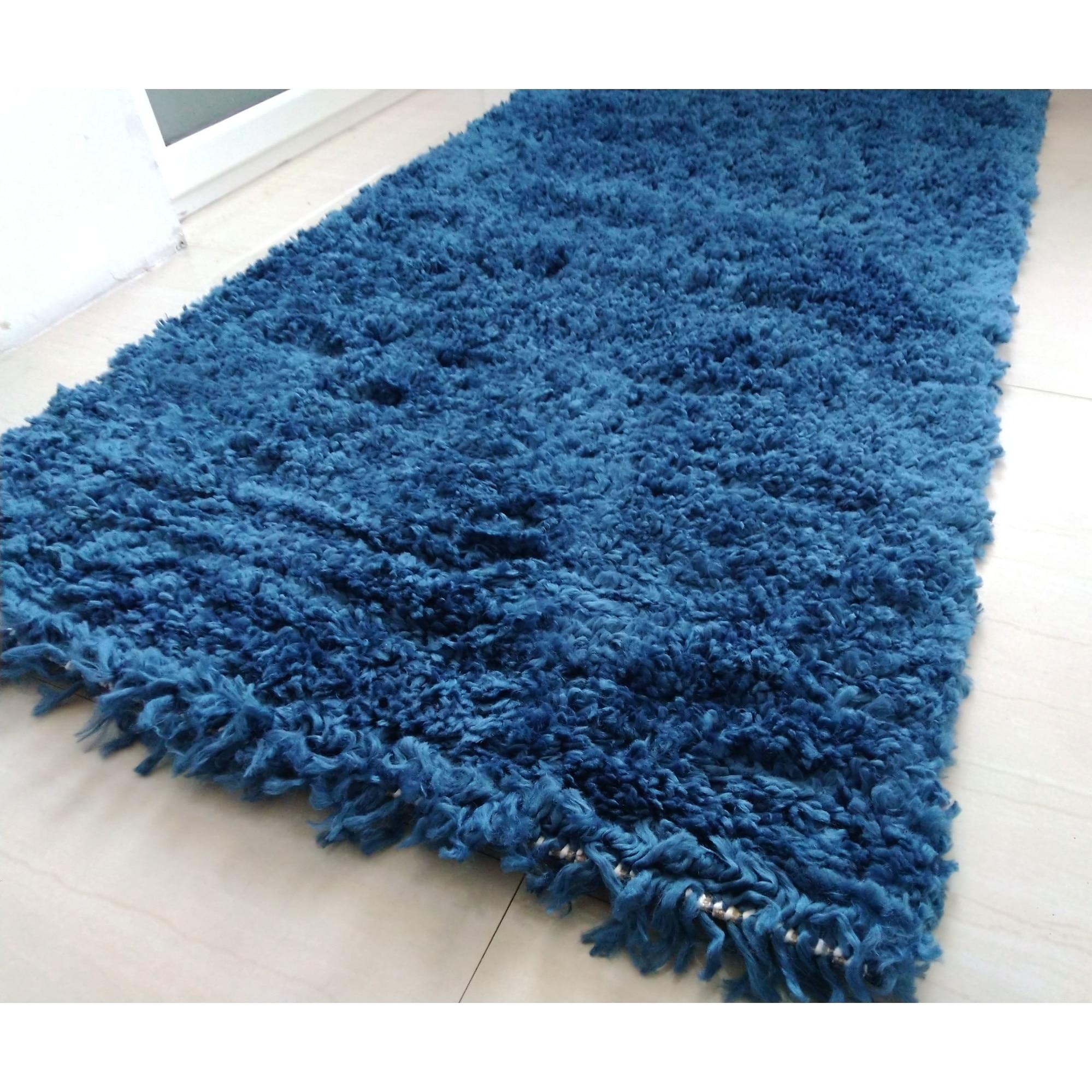Kerek szőnyeg Evima Kék 65x65 cm eMAG.hu