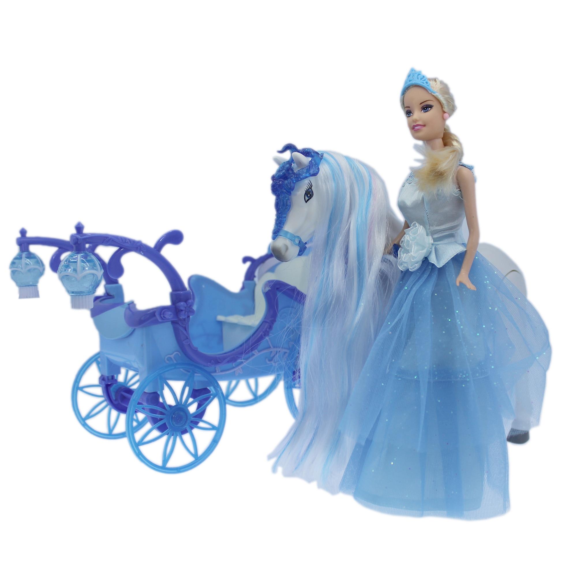 Fotografie Set jucarie M-Toys Printesa cu Trasura si Calut cu functii