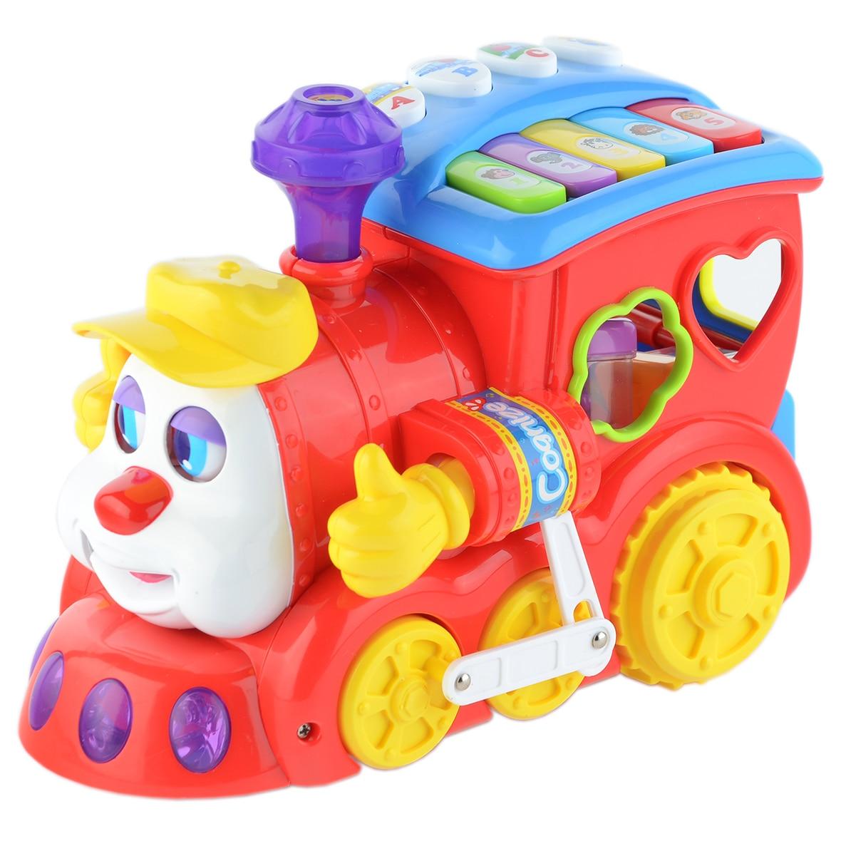 Fotografie Jucarie interactiva M-Toys - Locomotiva cu forme, lumini si sunete
