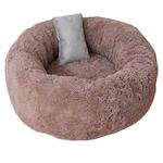Легло Капинката за кучета и котки ,кафяво 40-40-20 с подарък сива възглавница