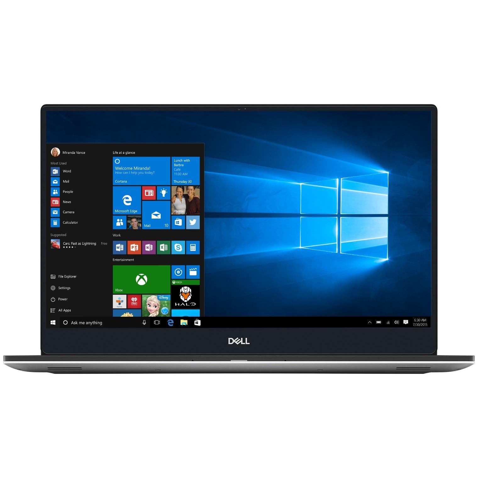 "Fotografie Laptop Dell XPS 15 7590 cu procesor Intel® Core™ i9-9980HK pana la 5.00 GHz, 15.6"", 4K UHD, IPS, Touch, 16GB, 512GB SSD, NVIDIA GeForce GTX 1650 4GB, Windows 10 Pro, Silver"