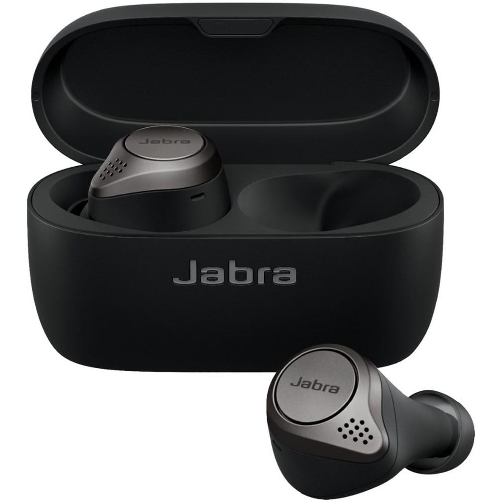 Fotografie Casca bluetooth stereo Jabra Elite 75t, Negru/Titan
