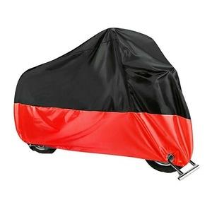 Prelata-husa protectie impermeabila, Craftride XXL Outdoor, pentru Motocicleta, Rezistenta la soare, intemperii si praf, Universala, Negru cu rosu