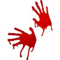 Smiffy's véres kezek, piros, 2 db készlet, ablak rögzítés