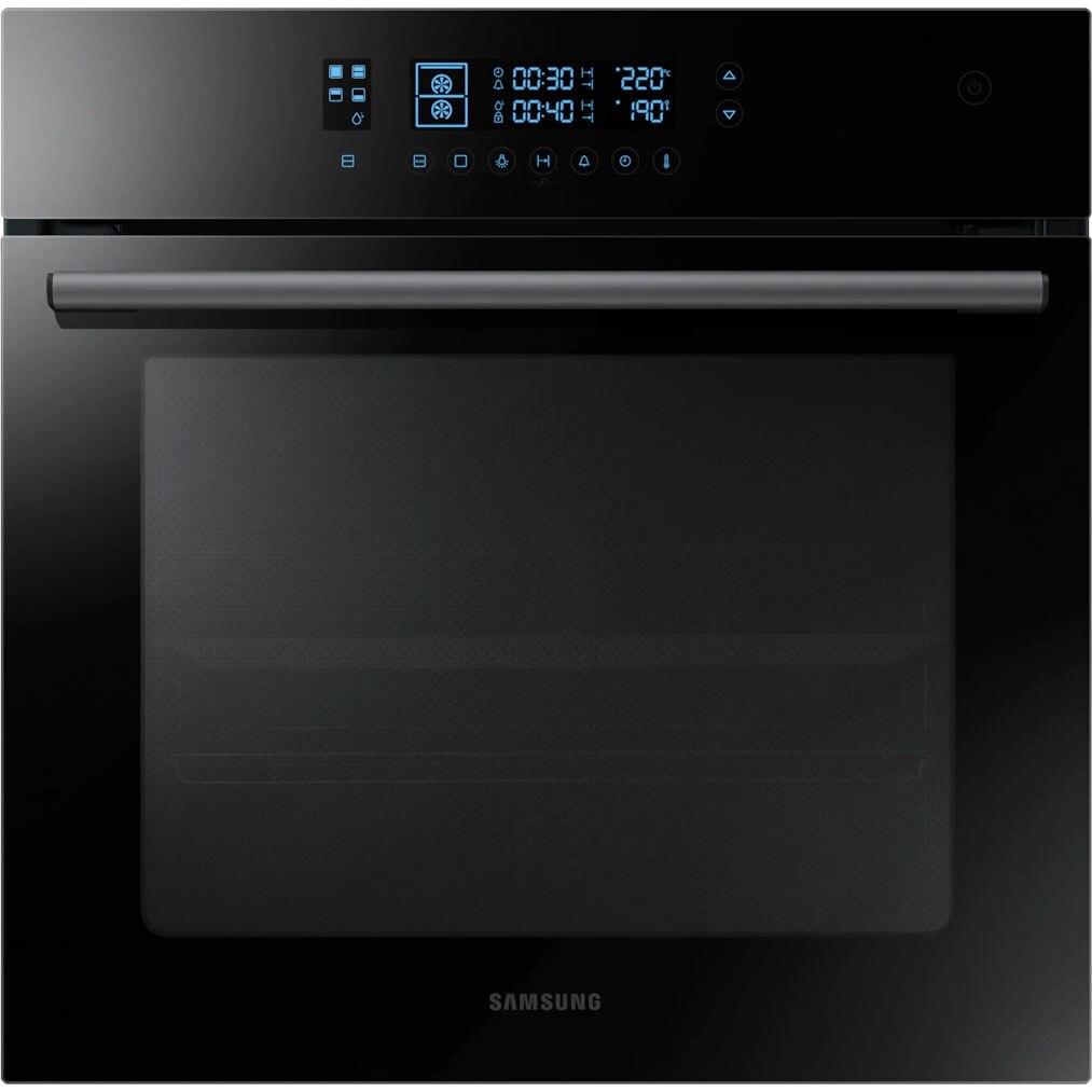 Fotografie Cuptor incorporabil Samsung NV68R5520CB/OL, Electric, Autocuratare catalitica, 68 l, Clasa A, Dual Cook, Display LED, Negru