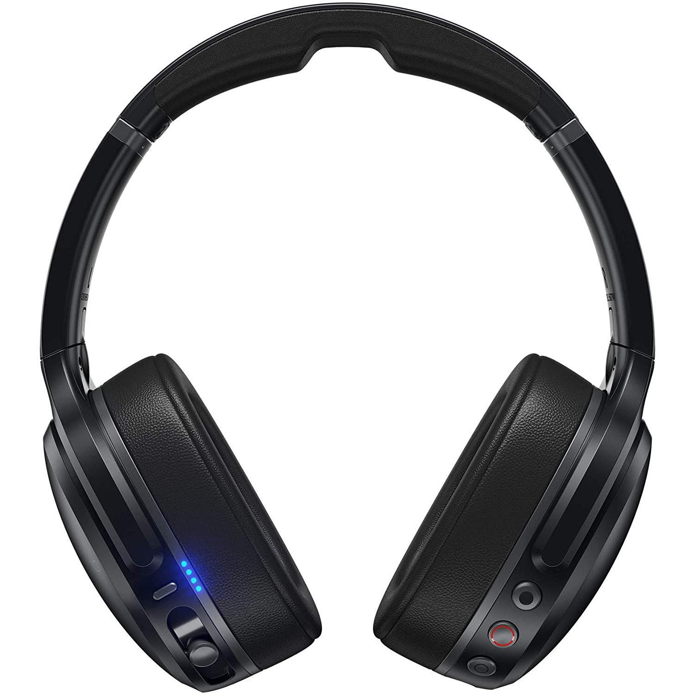Fotografie Casti Audio Over the Ear Pliabile Skullcandy Crusher, Wireless, Bluetooth, Noise cancelling, Microfon, Autonomie 10 ore, Black Gray