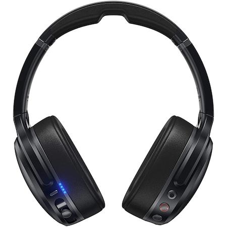Casti Audio Over the Ear Pliabile Skullcandy Crusher, Wireless, Bluetooth, Noise cancelling, Microfon, Autonomie 10 ore, Black Gray