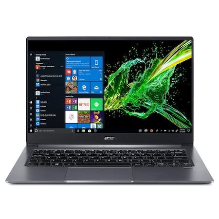 Лаптоп Acer Swift 3 SF314-57-712U с Intel Core i7-1065G7 (1.30/3.90 GHz, 8M), 8 GB, 1TB M.2 NVMe SSD, Intel Iris Plus (Ice Lake), Windows 10 Home 64-bit, тъмносив