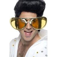 Smiffy's Elvis rock'n roll óriás szemüveg, metál arany, 25 cm