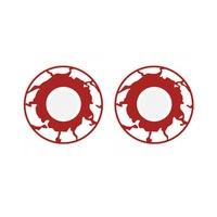 Smiffy's Zombi kontaktlencsék, piros/fehér, 14 mm, unisex