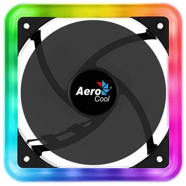 Fotografie Ventilator Aerocool Edge14, 120mm, iluminare aRGB
