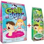Комплект креативна игра Zimpli Kids Gelli Baff, розово желе за баня + Slime Play зелена слуз за игра