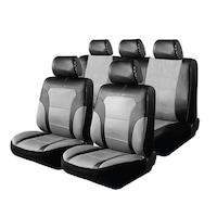 Калъфи за автомобилни седалки Peugeot 307Sw - Мрежа RoGroup Черно Сиво 9 броя