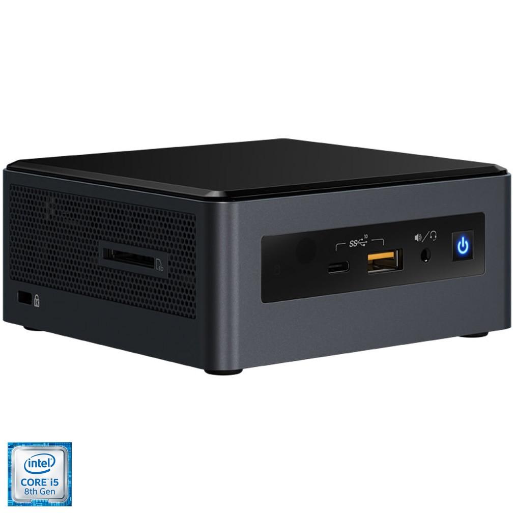 """Fotografie Mini PC Intel NUC 8 Mainstream-G BXNUC8I5INHX cu procesor Intel® Core® i5-8265U pana la 3.90GHz, Whiskey Lake, 8GB LPDDR3, suport M.2 PCIe 2280 + 2.5"""" HDD/SSD, WiFi, AMD Radeon 540X 2GB GDDR5"""