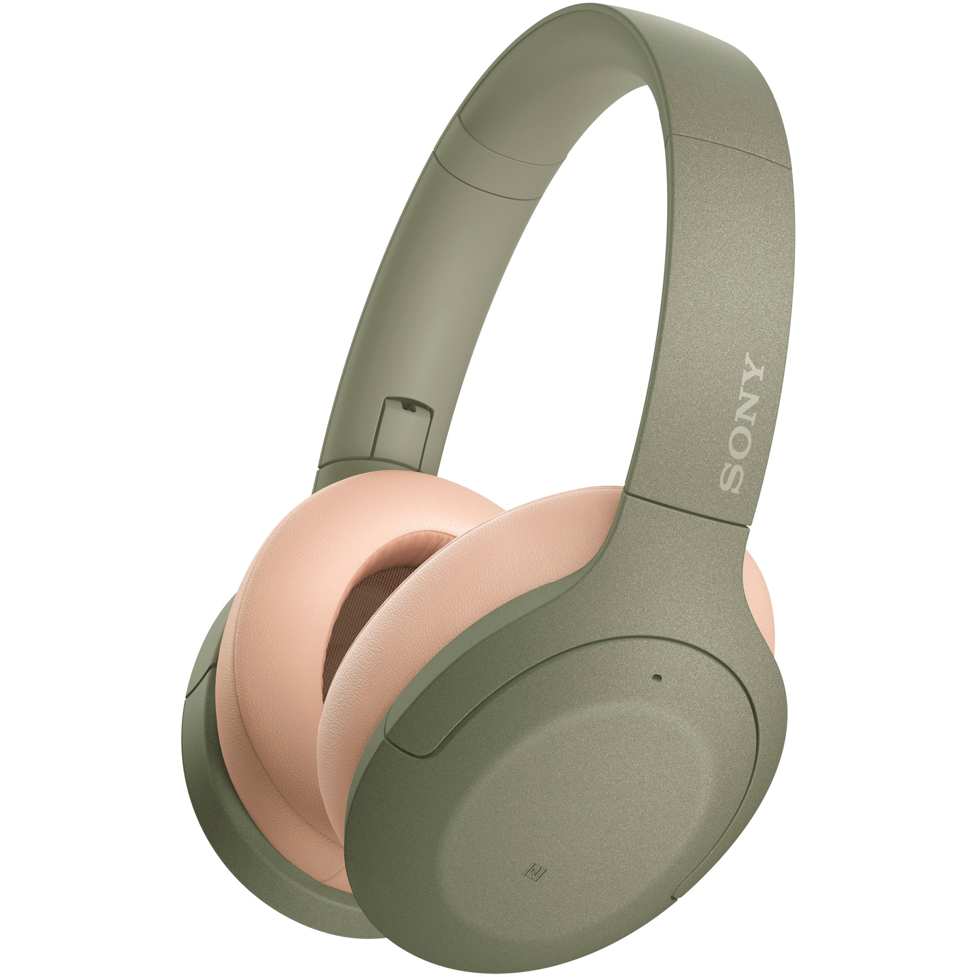 Fotografie Casti Over the Ear Sony WHH910NG, Wireless, Bluetooth, Noise cancelling, Verde