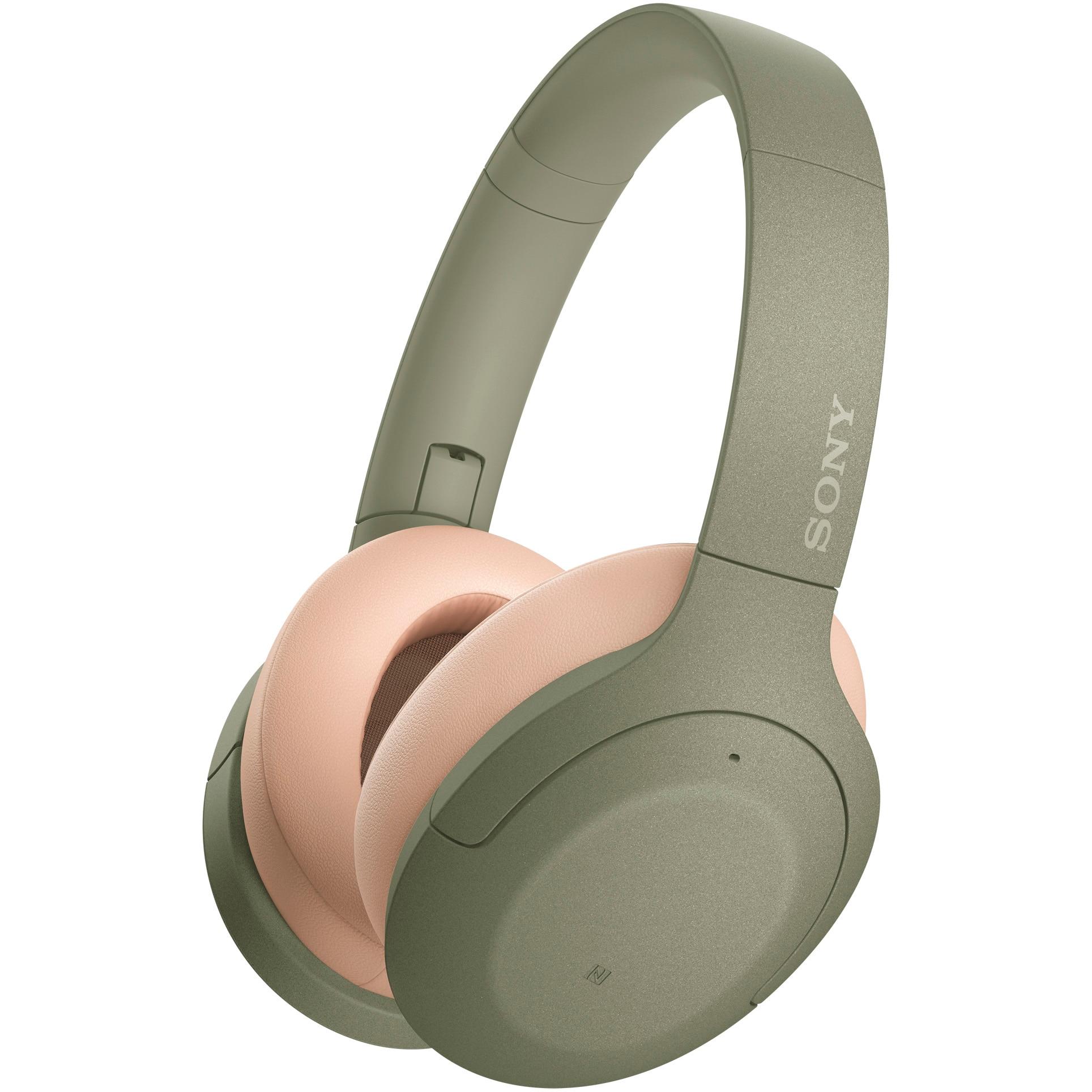 Fotografie Casti Sony WH-H910NG, Noise Canceling, Quick attention, Hi-Res, Wireless, Bluetooth, NFC, LDAC, Autonomie de 35 ore, Verde
