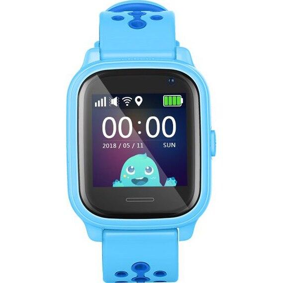 Fotografie Ceas inteligent cu GPS pentru copii Wonlex™ KT04, functie telefon, GPS, rezistent la apa, SIM prepay cadou, Albastru