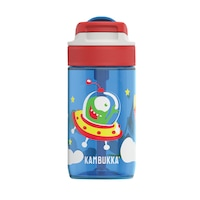 Sticla de apa pentru copii, Kambukka Lagoon, Tritan, Fara BPA, Model extraterestru, Albastru, 400 ml