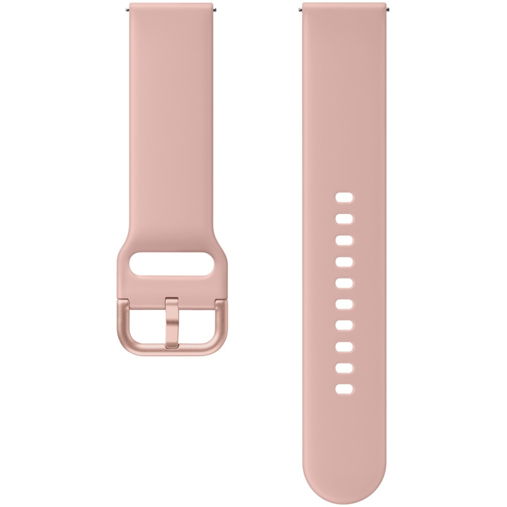 Fotografie Curea ceas smartwatch Samsung Galaxy Watch Active 2, FKM Sport Strap, Silicon, Gold