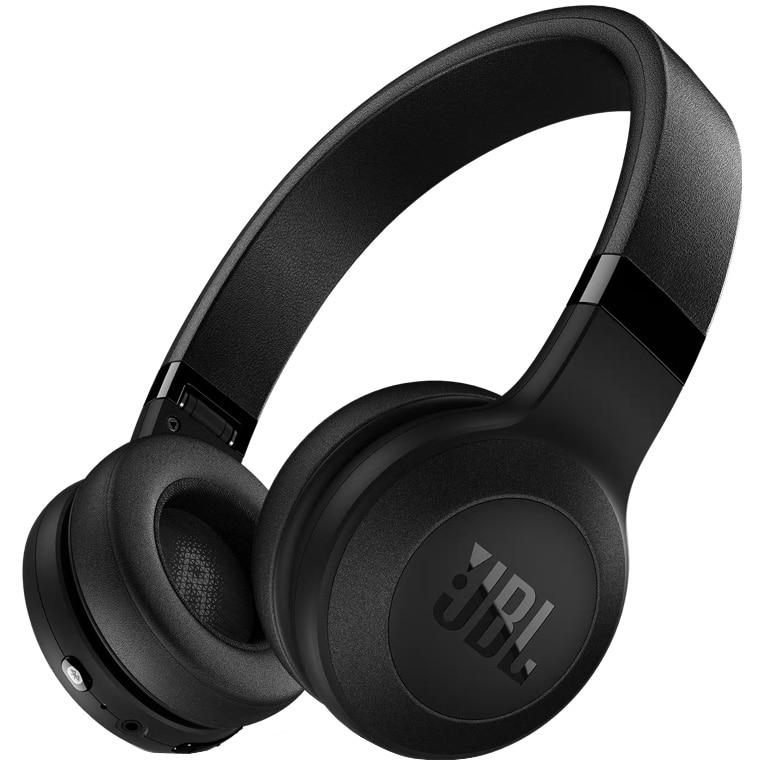 Fotografie Casti On-Ear JBL C45BTBLK, JBL Signature Sound, Bluetooth Wireless, Hands-free calls, 16h playback, negru