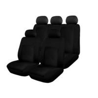 Калъфи/тапицерия за предни и задни седалки Flexzon Dream, 3 ципа, Пълен комплект, Черни
