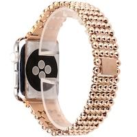 Каишка iUni Luxury за Apple Watch 44 мм Стомана Rose Gold