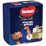 Пелени-гащички Huggies Elite Soft Pants Overnight, Нощни, Размер 5, 17 броя, 12-17 кг