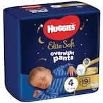 Пелени-гащички Huggies Elite Soft Pants Overnight, Нощни, Размер 4, 19 броя, 9-14 кг