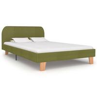 vidaXL zöld szövetkárpitozású ágykeret 120 x 200 cm