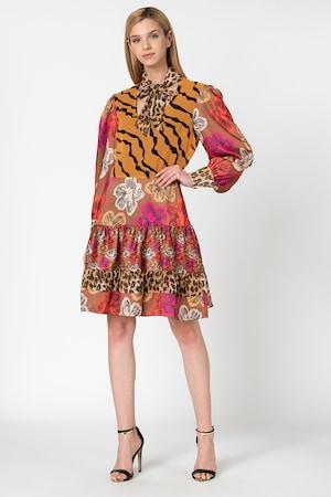 Silvian Heach Collection, Rochie cu diverse modele Abbruzzi, Maro caramel/multicolor