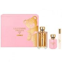 Комплект за жени Prada, La Femme l'Eau: Тоалетна вода, 100 мл + Лосион за тяло, 100 мл + Тоалетна вода, 10 мл