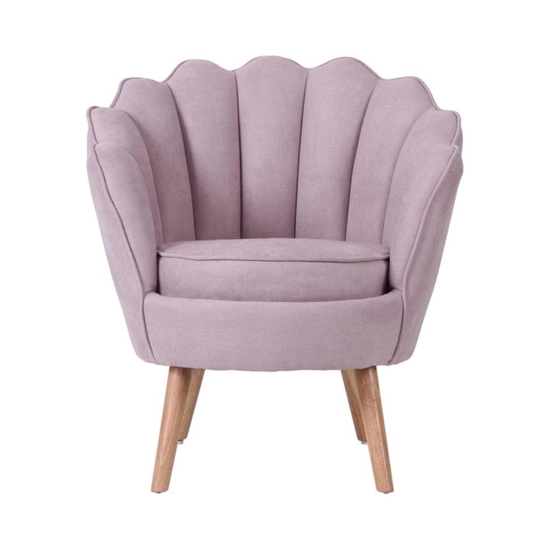 Kagyló formájú fotel, pasztell lila, Marguerite Butopea
