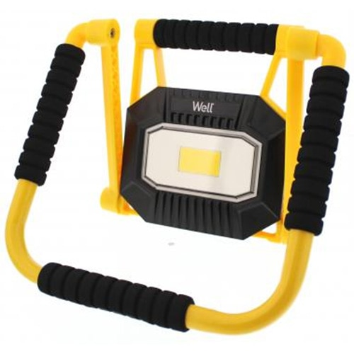 Fotografie Proiector LED portabil Well Mobile, reincarcabil, 20W, 1400 lm, 3.7V, 4400mAh, Ilumina 4000K, IP65