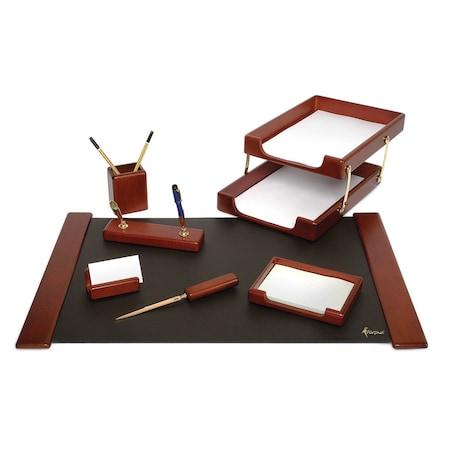 Set birou Forpus lemn mahon 8 piese