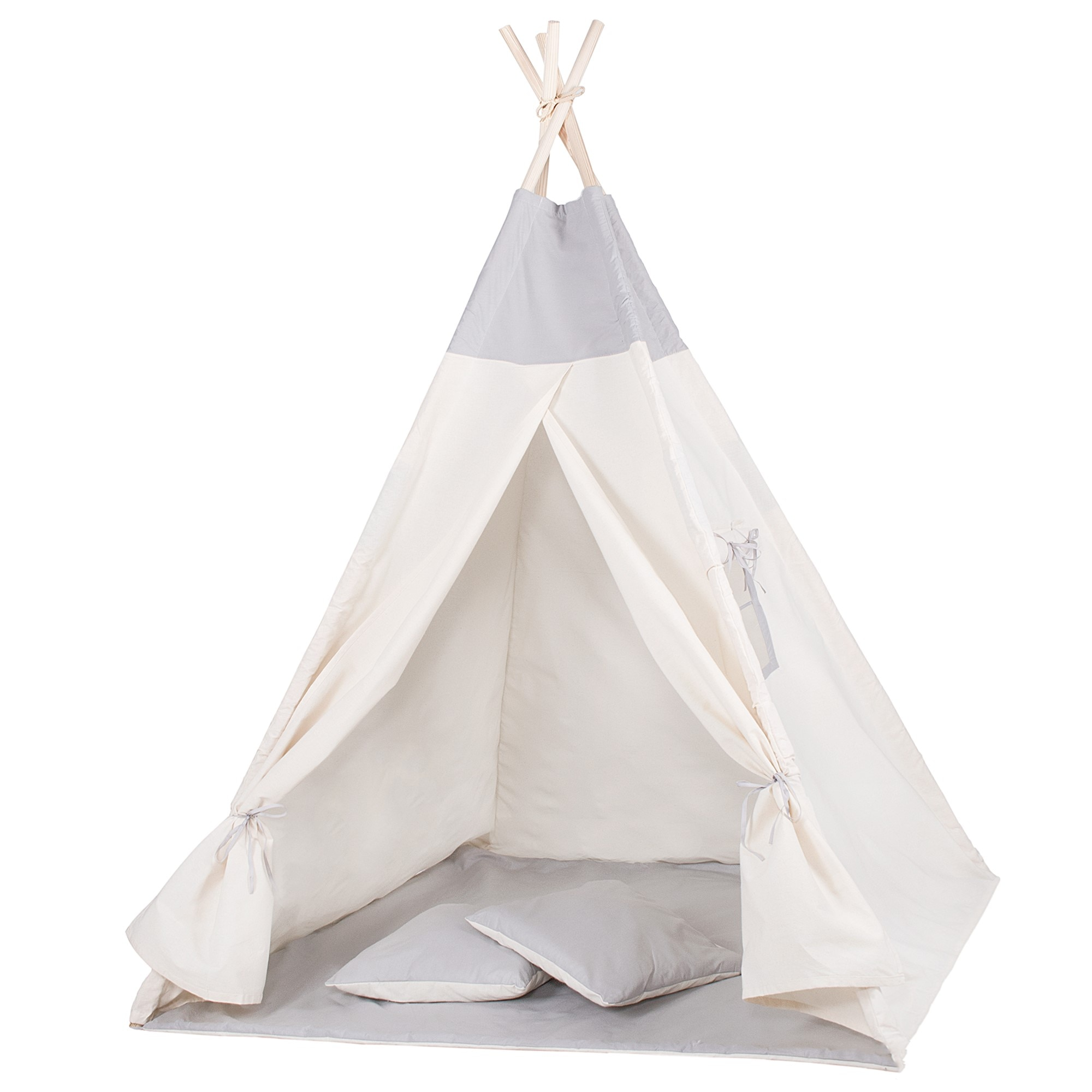 Namiot Tipi dla dzieci wigwam szary XXL