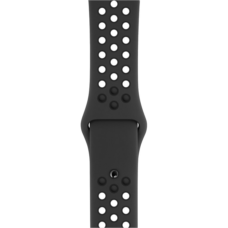 Fotografie Curea pentru Apple Watch 42 / 44mm, Nike Sport Band, S/M & M/L, Anthracite/Black