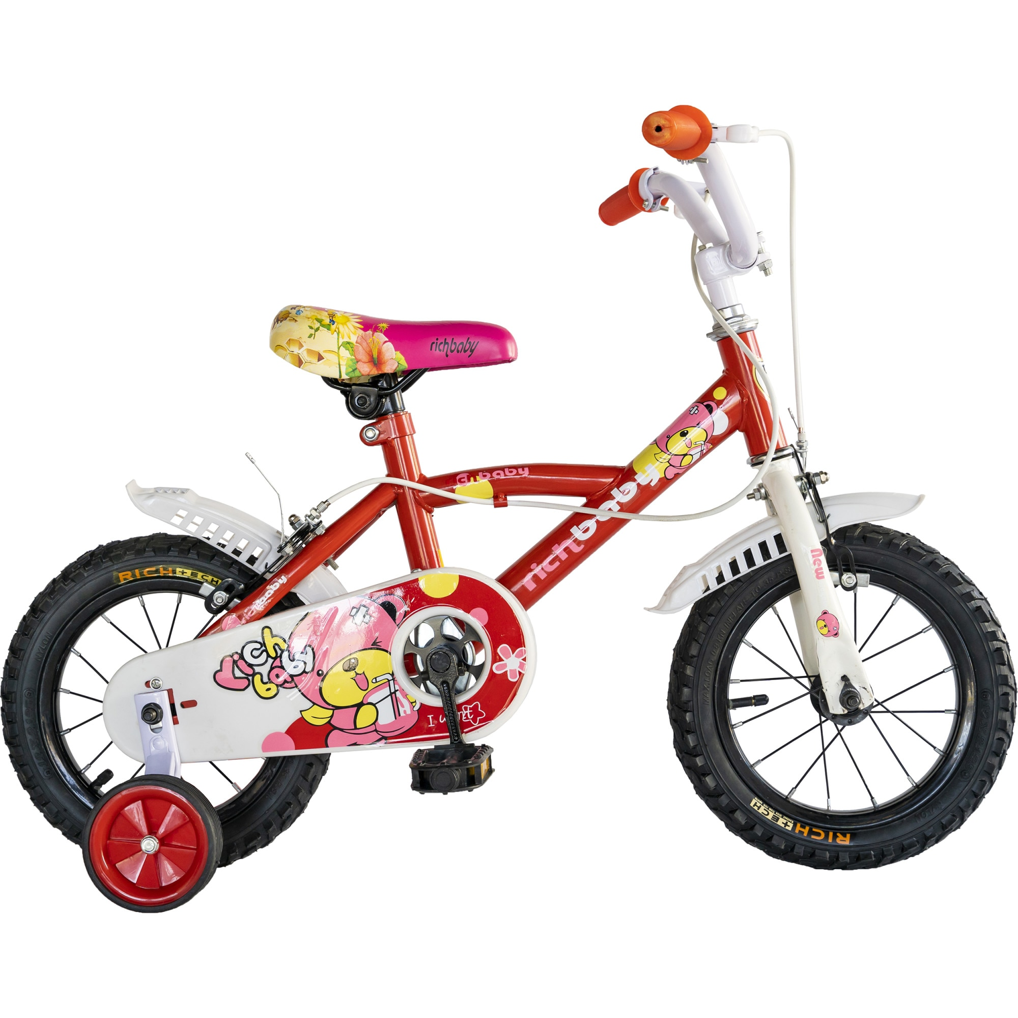 """Fotografie Bicicleta 12"""" Rich F1204B pentru copii, Rosu"""