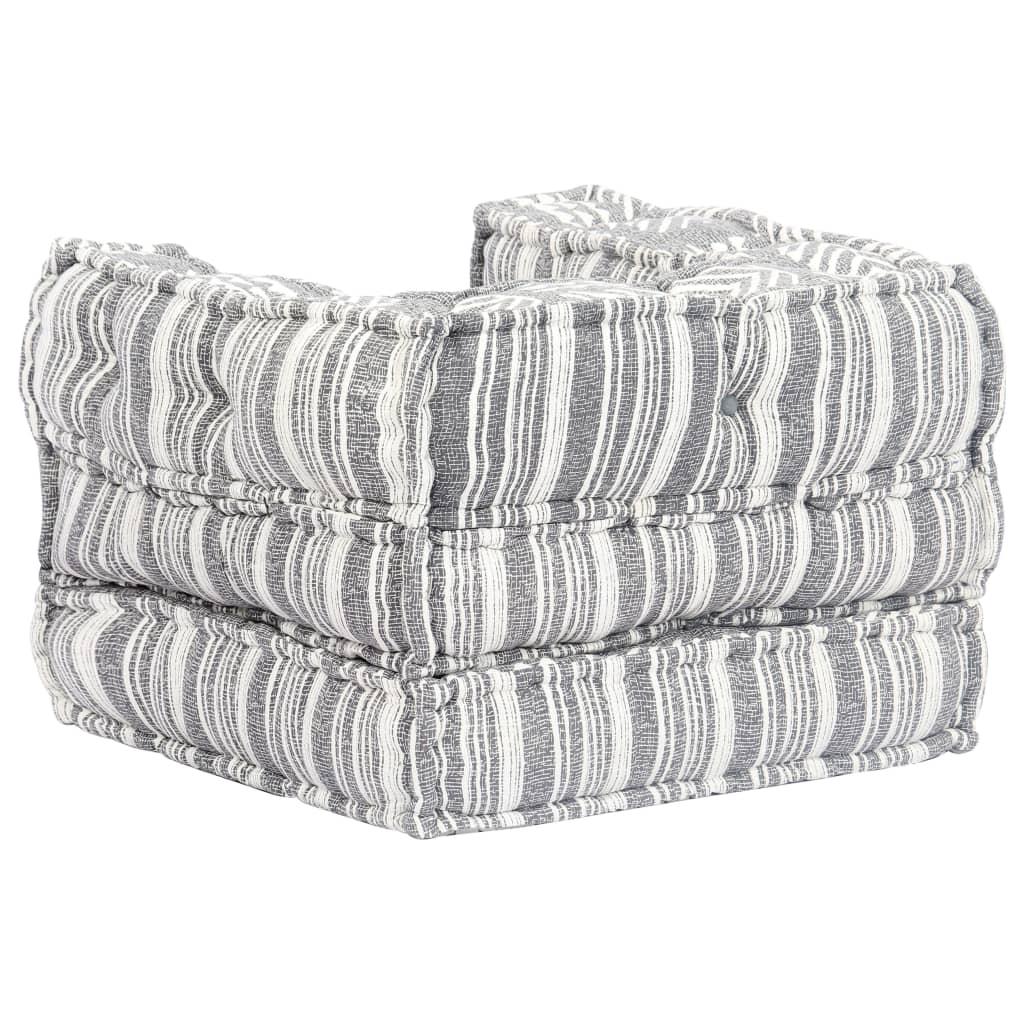 vidaXL fotel, moduláris, szövet, csíkos ABf352