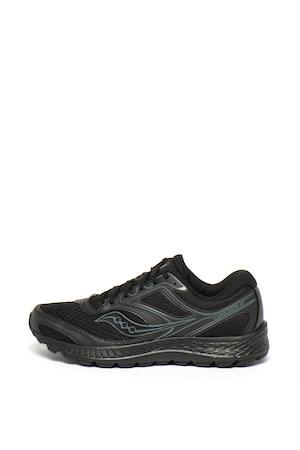 Saucony, Cohesion 12 sneaker hálós anyagbetétekkel, Fekete, 6.5